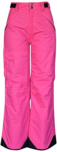 Pulse Big Girls Rider Skiing Ski Snow Pants Insulated (S (7/8), Pink)