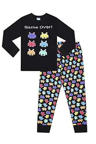 Space Invaders Boys Pyjamas Set. Ages 7 to 14 Years