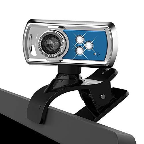 ZNSH Webcams, USB Web Cam HD PC-Kamera-Plug & Play, Manueller Fokus/High-Sensitivity Mikrofon / 360 Grad Horizontal Rotation, Desktop-Laptop-Kamera Für Videotelefonie-Konferenz