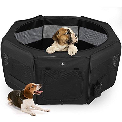 Price comparison product image X-ZONE PET Portable Foldable Pet Dog Cat Playpen Crates Kennel / Premium 600D Oxford Cloth, Removable Zipper Top,  Indoor and Outdoor Use