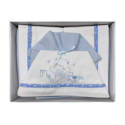 NADA HOME Juego de sábanas para cuna de franela con pequeñas emociones, 3836