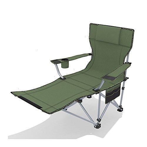 Chair Zhaizhen Chaise longue à bascule pliable et portable pour extérieur, pour la plage, la pêche, le jardin (couleur : A)