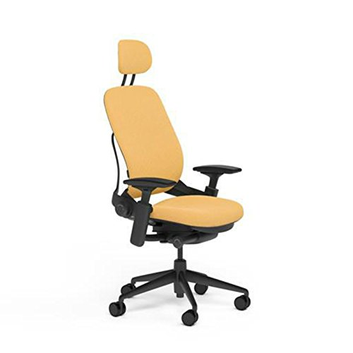 Steelcase Leap Desk Chair with Headrest in Buzz2 Sunrise Fabric -...