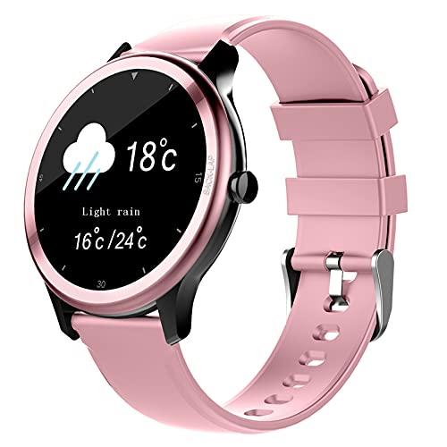 QIAI Reloj Inteligente para Hombre con Pantalla Táctil Completa, Reloj Deportivo para Fitness, IP67, Reloj Resistente Al Agua Reloj Inteligente para El Clima Deportivo(Color:C)