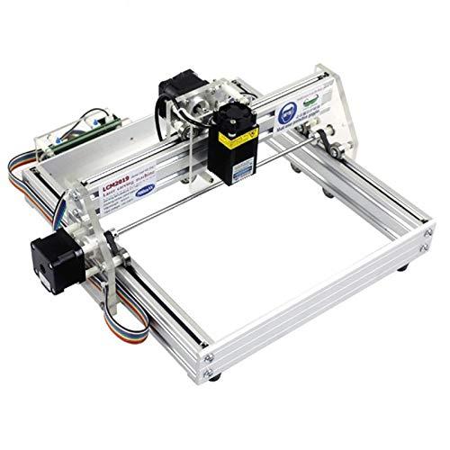 Huachaoxiang USB Escritorio Completamente Nuevo Máquina de Grabado láser Talla Carver Escritor Impresora láser de Bricolaje con Gafas Zona de la Quema,Rojo