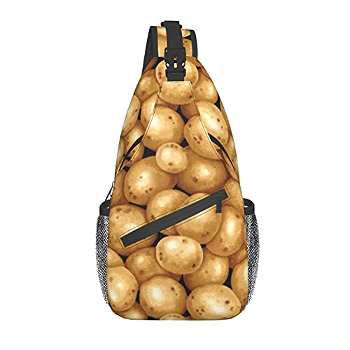 Yuanmeiju Mochila Unisex Garden Potatoes Sling Bag Casual Chest Crossbody Anti-Theft Sling Bags Shoulder Backpack Waterproof Chest Bag with Adjustable Strap