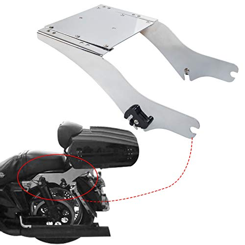 King Tour Pack Pak Latches Razor Chop Trunk Mount Chrome for Harley Touring FL 1997-2008