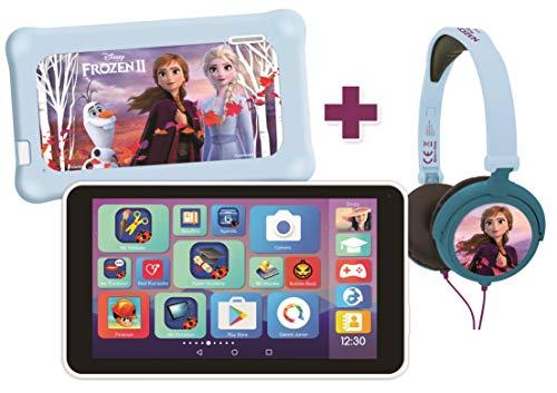 Lexibook MFC149ENY LexiTab Master Bundle Disney Die Eiskönigin 2-7 Zoll Kinder Tablet mit Lern-Apps Spiele Kindersicherung, Schutzhülle, Kopfhörer Android Wi-Fi Google Play YouTube