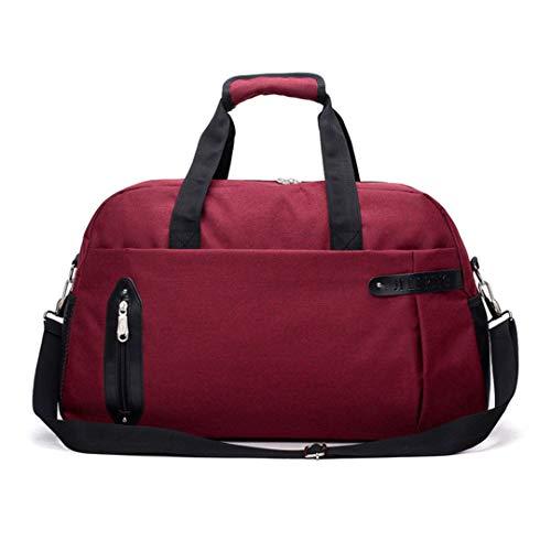 Handbag Organiser Large Capacity Travel Suitcase Shoulder Bag Weekend Sports Simple, red (Red) - FTHB190803