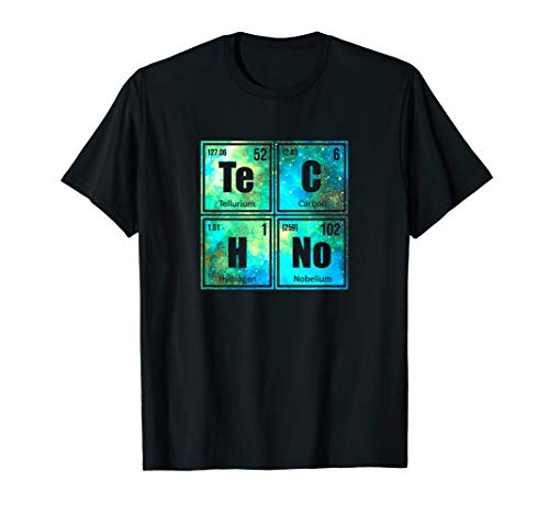 Techno Rave Party Periodensystem Festival Galaxy T-Shirt