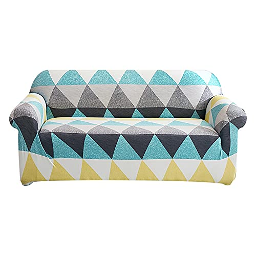 Elastic Sofa Cover Stretch Plaid Sofa Covers for Living Room Fully-Wrap Couch Chair Cover Armchair Anti-Dust Furniture Protector 145-185cm 10