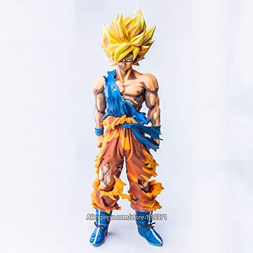 Yangzou Dragon Ball Z Master Stars Piece The Son Goku Figura Toy 34Cm,Super Saiyan Color Especial Dragon Ball Figura Figuras De Acción Juguetes