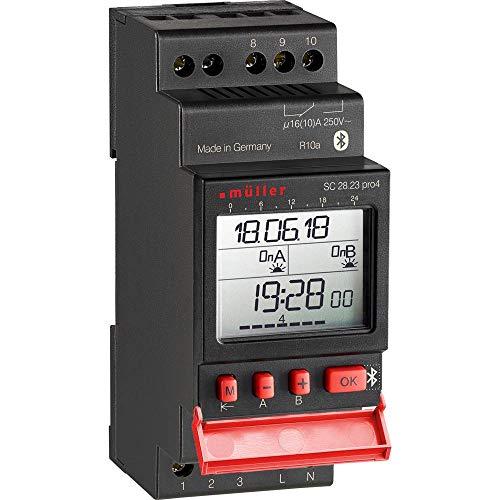 Müller SC28.23 pro4 Hutschienen-Zeitschaltuhr digital 230 V/AC 16 A/250V