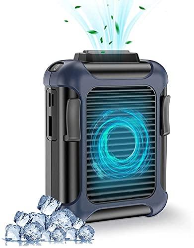 YOMERA Ventilador USB 4000mAh, Ventilador de Cintura, Portatil Mini Ventilador con 3 Velocidades/4-16 Horas de Tiempo de Trabajo, para Oficina, Hogar, Fitness, Acampar