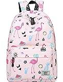 Mygreen Schule Rucksack Wasserdichtes Daypack für Mädchen Flamingo Rosa