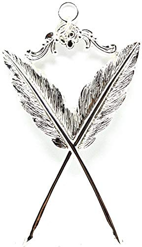 DEURA Masonic Collar Jewel Secretary Silver Plated Freemason Mason 3'