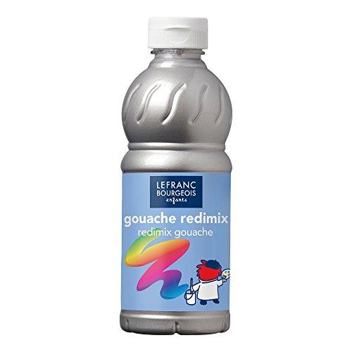 Lefranc Bourgeois - Gouache liquide Redimix pour enfants - Bouteille 500ml - Argent
