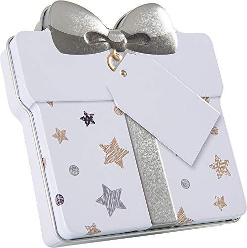 KHI Gutscheindose Geschenkdose Dose für Gutschein schön verpacken, Verpackung für Gutschein (Silber)