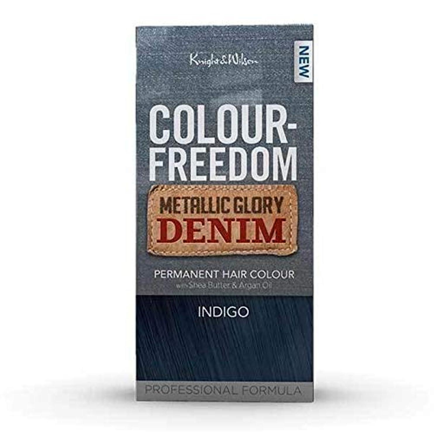 後継インタネットを見る叱る[Colour Freedom ] カラー自由メタリック栄光デニムインディゴ - Colour Freedom Metallic Glory Denim Indigo [並行輸入品]
