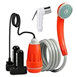 KEDSUM Portable Camping Shower, Camping Shower Pump with Dual...