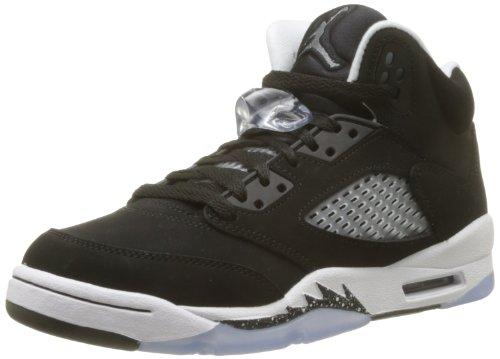 Nike Air Jordan 5 Retro (GS) 440888-035 - Zapatillas Deportivas de Cuero para niño, Color Negro, Talla 36