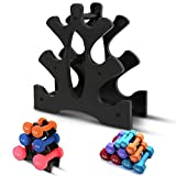 Compact Dumbbell Bracket, 3-Tier Tree-Shaped Dumbbell Rack, Mini Weight Lifting Dumbbell Storage...