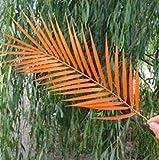 LHZUS Artificial único de Hoja de Palma Plant Simulation plástico Palmera Planta Verde Rama for el arreglo Floral Domingo de Ramos (Color : Naranja, Size : One Size)