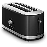 KitchenAid KMT4116OB 4 Slice Long Slot Toaster with High Lift Lever (Onyx Black)