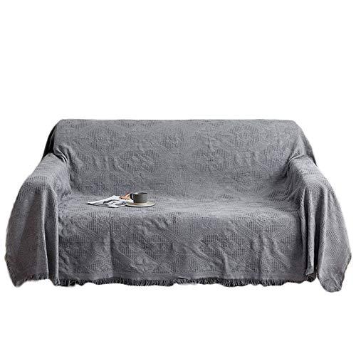 HUNOL Funda de Sofá, Poliéster Funda de Sofá Lavable Funda Cubre Sofá para Sala Funda para Sofá para Mascotas Protector de Muebles-Gris Claro B-Small