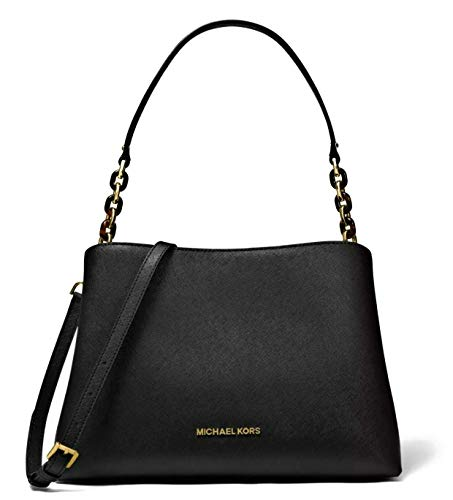 "Made of Saffiano leather Removable and adjustable crossbody strap, wear two ways, crossbody or over the shoulder Top snap closure with zipped middle compartment Inside 1 zip pocket and 7 slip pockets perfect to organize your daily essentials 11.5""L x..."