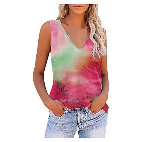 Camiseta de manga corta para mujer, de verano, sexy, de moda, cuello en V, blusa suelta, elegante, sin mangas, para yoga, deporte y fitness.