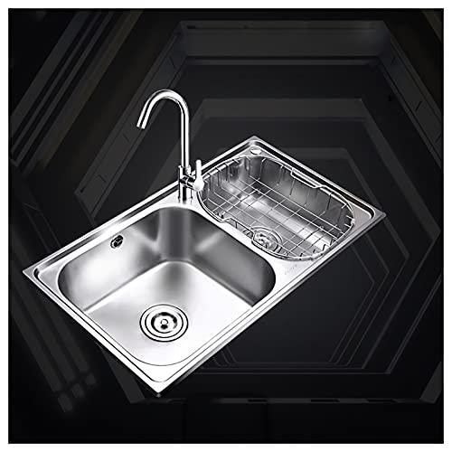 Fregadero Cocina Fregadero de cocina de acero inoxidable de 33 x 17 pulgadas, lavabo de lavabo de doble cuenco, lavabo versátil, fregadero de la granja de 8 pulgadas de profundidad con accesorios Freg