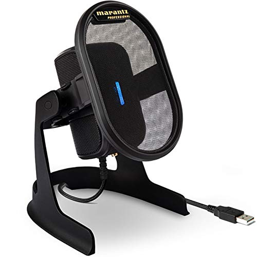 マランツプロ USB コンデンサーマイク ポップフィルター/ショックマウント搭載 ドライバー不要 スタジオグ...