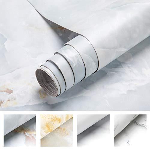 0.61 * 5M Marmor Tapete Möbelfolie Klebefolie Selbstklebend Aufkleber Dekofolie Möbelsticker Wand wasserdicht Folie für Schlafzimmer Küche, Schrank, Tisch(Type C)