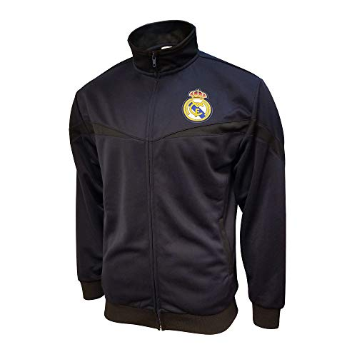 Icon Sports Mens Striker Full-Zip Track Jacket UEFA Champions League Soccer Real Madrid, Alternate, X-Large