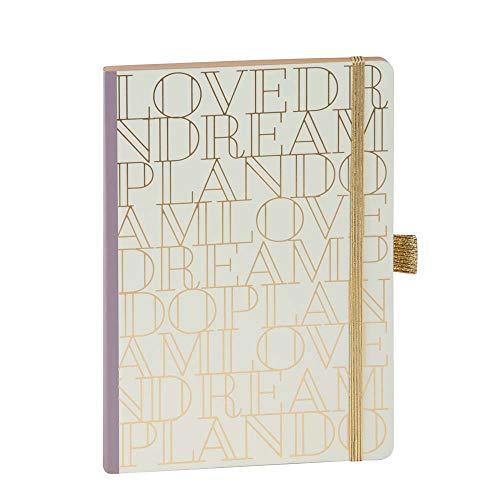ARTEBENE Notizbuch Notizheft Schreibheft Schreibbuch Love Dream Plan Do A5