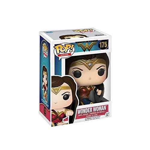 DC Funko POP! Wonder Woman: Wonder Woman, en pose de batalla con escudo