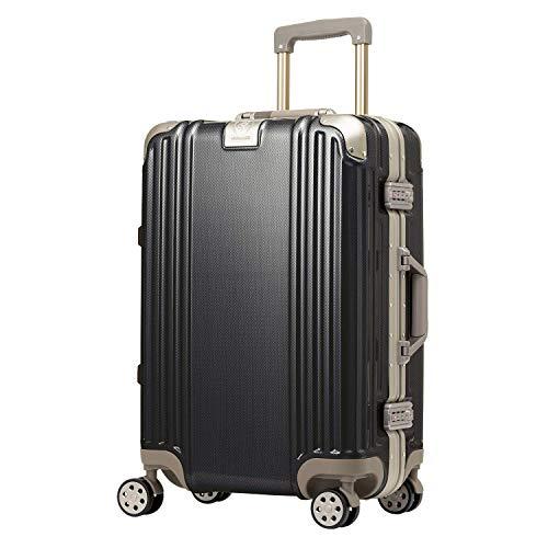 スーツケース キャリーケース キャリーバッグ フレームタイプ Mサイズ 3~5泊以上 4.5kg 51L 無料受託手荷物 ダブルキャスター TSAロック ダイヤルロック レジェンドウォーカー 5509-57 シャイニーグラファイト
