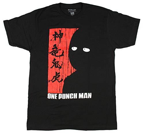 One Punch Man Saitama Shadow Adult T-Shirt - Black (Large)