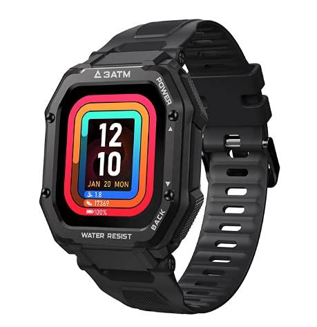Smartwatch 2021 KOSPET ROCK Rugged Sport all aria aperta da uomo Impermeabile Fitness Tracker Monitor della pressione sanguigna Smart Watch (Black)