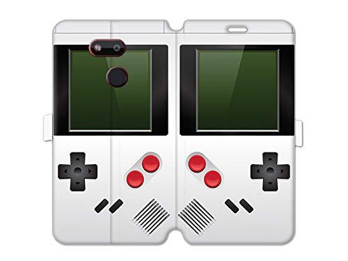 Hülle für HTC Desire 12s - Hülle Wallet Book Fantastic - Weißes Game Boy Handyhülle Schutzhülle Etui Hülle Cover Tasche für Handy