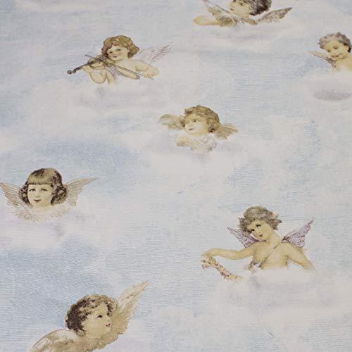 Hans-Textil-Shop stof per meter engel putten (decoratie, naaien, kinderen, kussens, tafelkleed, gordijn) - 1 meter