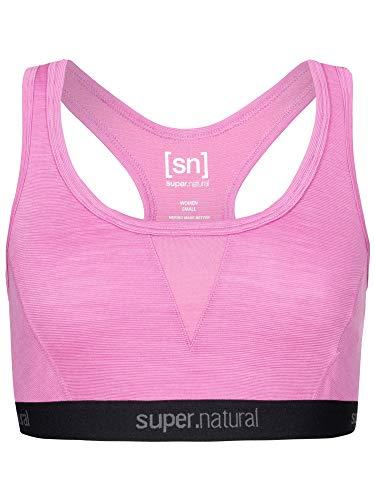 super.natural Damen Sport-BH, Mit Merinowolle, W SEMPLICE BRA 260, Größe: M, Farbe: Rosa meliert