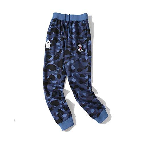 ZCVB Pantalones Deportivos Informales de tiburón Unisex Pantalones de chándal de Moda, conviértete en la Persona más Genial de la Zona-Azul_L