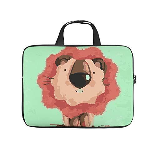 Funda para portátil con diseño de león de dibujos animados