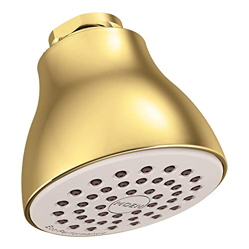 Moen 6300P One-Function Easy Clean XL Shower Head, Polished Brass