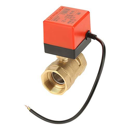 Válvula de bola motorizada de 2 vías 1.6MPa, válvula de bola de latón, para la automatización de edificios, sistema de control de agua, regulación del flujo de fluido, fan coil