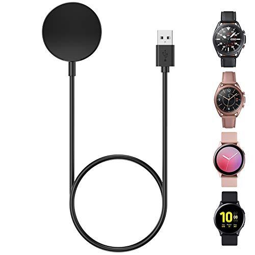 CAVN Ladegerät Kompatibel mit Samsung Galaxy Watch Active 2 40mm 44mm /Galaxy Watch 3 45mm 41mm /Active 1 Induktive Ladekabel, (100cm/3.3ft) Ersatz USB Ladestation Lade Aufladekabel Schnellladegerät