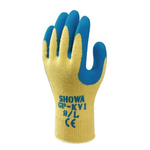SHOWA GP-KV1, Latex – Beschichtung, Schnittschutz, Gelb / Blau, 8/M