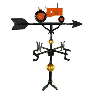 Montague Metall Produkte 32 Deluxe Wetterfahne mit Orange Traktor Ornament von Montague Metall Produkte